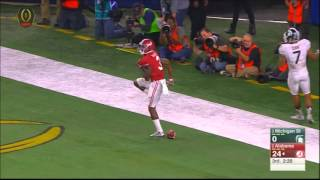 Coker to Ridley 50 yard bomb for touchdown - Cotton Bowl