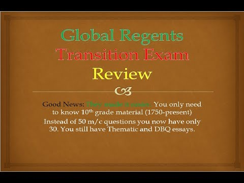 Global Regents Transition Exam Review
