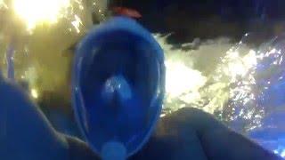 видео Маска для плавания под водой на все лицо