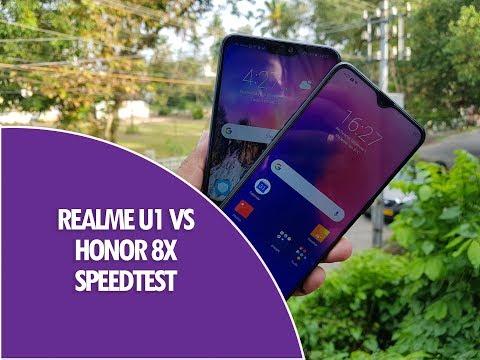 Realme U1 vs Honor 8X Speedtest Comparison