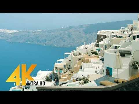 4K Greece, Santorini – Around the World – Urban Life Documentary Film