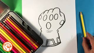 How to Draw Infinity Gauntlet from Avengers Endgame - Cute Version - Easy Pictures to Draw