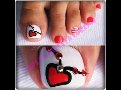 Diy Uñas Decoradas Con Corazon Tips De Belleza Lorenm Youtube