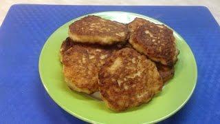 Оладьи из куриного фарша на кефире | Fritters of minced chicken and yogurt