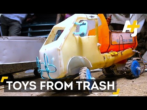 Haitian Teens Build Toys From Trash