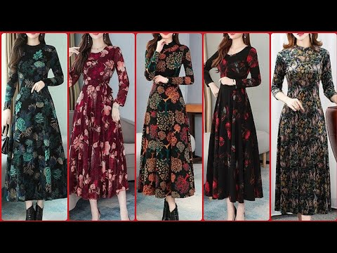 Latest Attractive Stylish And Trendy New Styles Floral Print Maxi Design 2020
