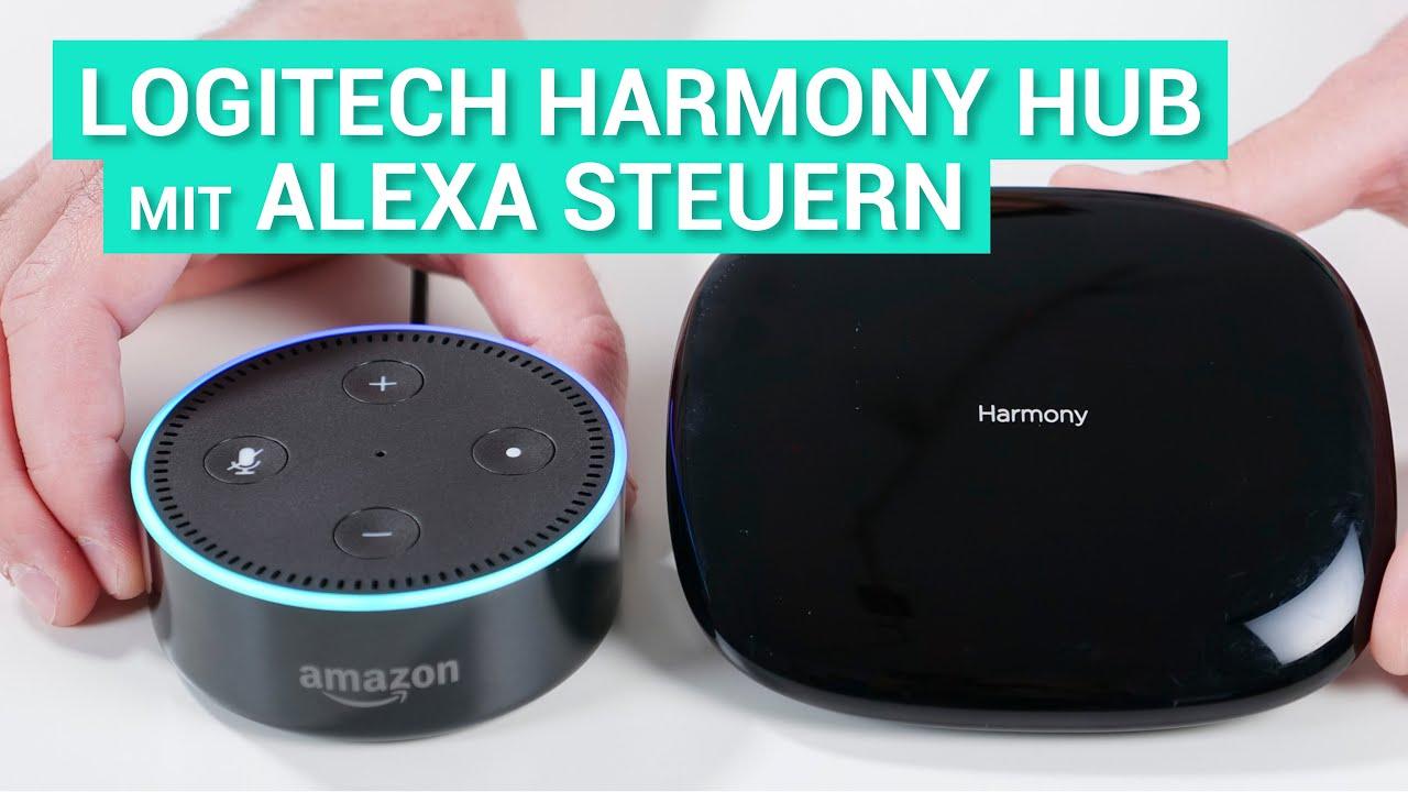 logitech harmony skill mit amazon alexa steuern deutsch youtube. Black Bedroom Furniture Sets. Home Design Ideas