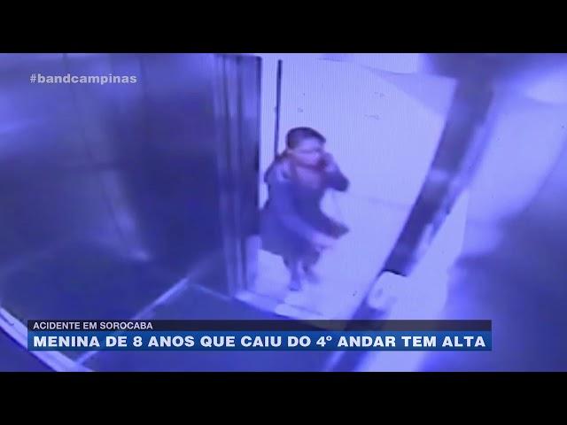 Acidente em Sorocaba: menina de 8 anos que caiu do 4º andar tem alta