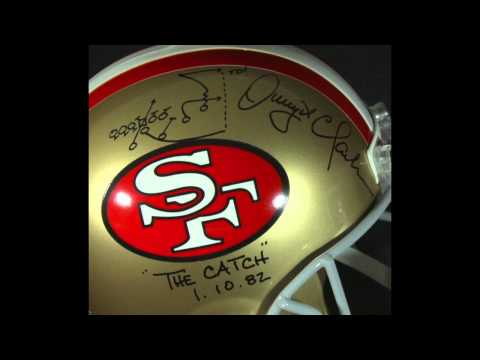 Auction: Dwight Clark Signed 49ers Full-Size Helmet with Hand Drawn Play & Inscription (PSA COA)
