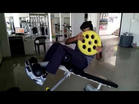 Incline Bench Abs workout