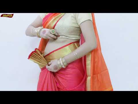 Pure Khari Cotton Saree Drape | How to Wear Ulta Pallu Saree Perfectly in 2 mints