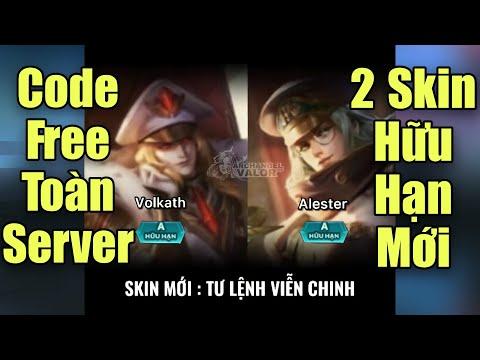 Free code không giới hạn (toàn server) mừng VN chiến thắng - 2 skin hữu hạn Tư lệnh viễn trinh hé lộ