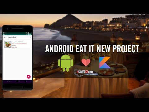 Kotlin Android Tutorial - New Eat It part 33 Server App Update Category thumbnail