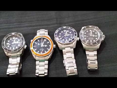 Comparison of Rolex Deepsea , Omega PO and Seiko M