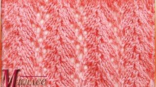 ВЯЗАНИЕ АЖУРА СПИЦАМИ  Lace Knitting Pattern