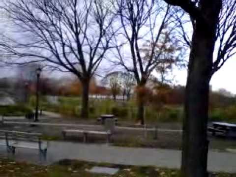 Crotona park antes de nevar Bronx New york