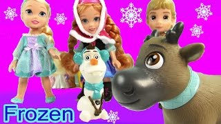 Disney Frozen Toddlers Doll Queen Elsa Princess Anna Kristoff Olaf Sven Play Set