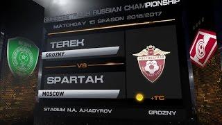 Обзор матча  Футбол  РФПЛ  15 й тур  Терек   Спартак 0 1