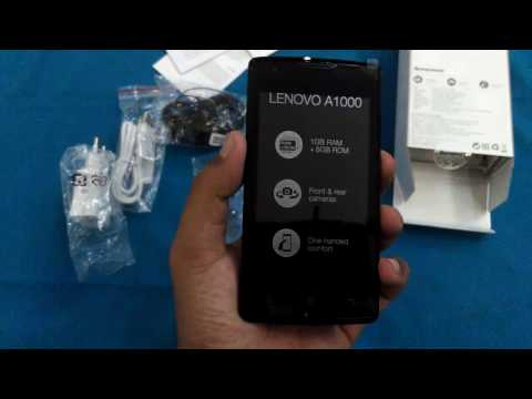 Unboxing lenovo A1000 indonesia