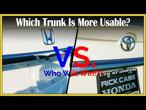 Honda Accord vs. Toyota Camry Review Trailer | The Battle of the Ages! | How Much Stuff Can Fit?