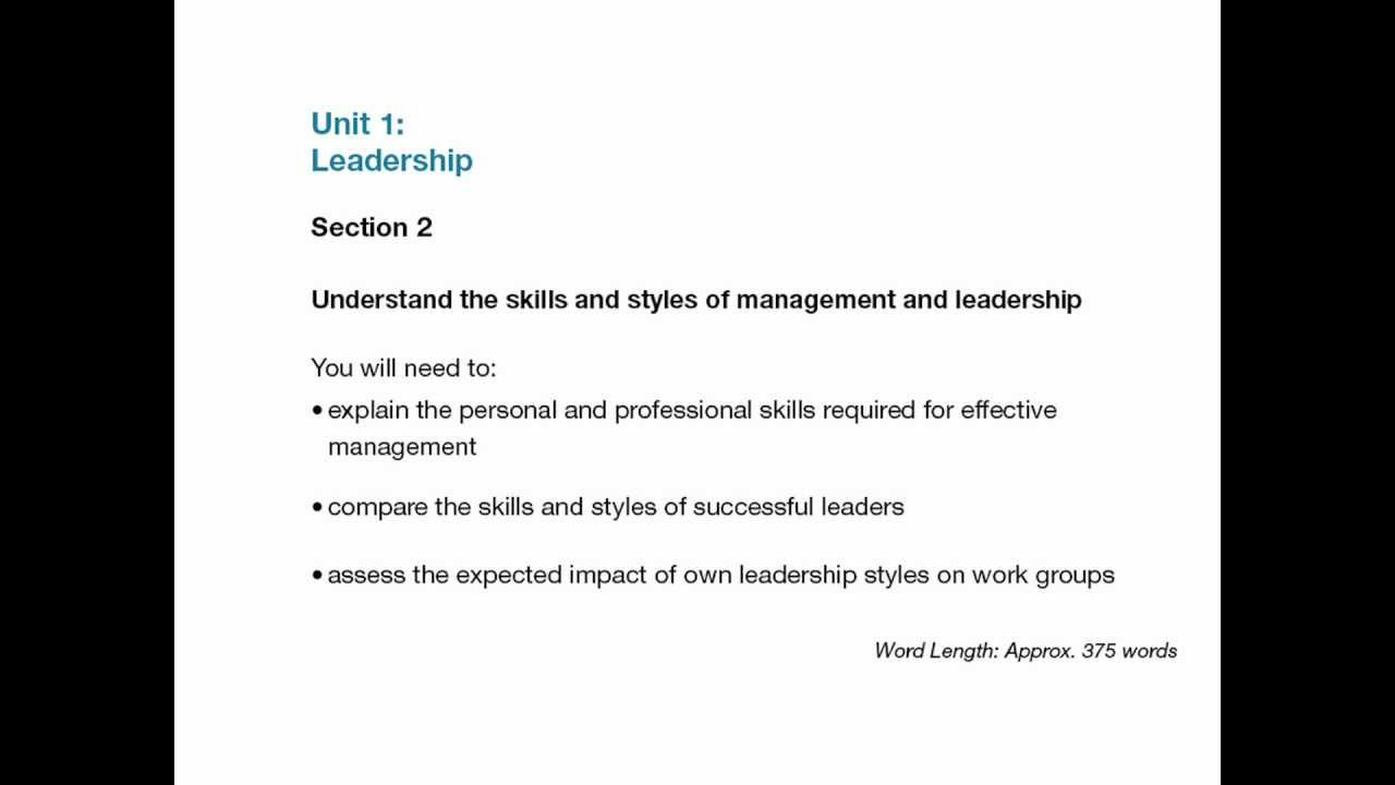 unit 1 leadership assignment level 5 unit 1 leadership assignment level 5