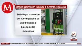 Marko Cortés asegura que inflación es debido al aumento de gasolina
