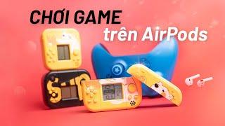 Case Máy Chơi Game SUP: vỏ case kiêm máy chơi game cổ điển cho airpods