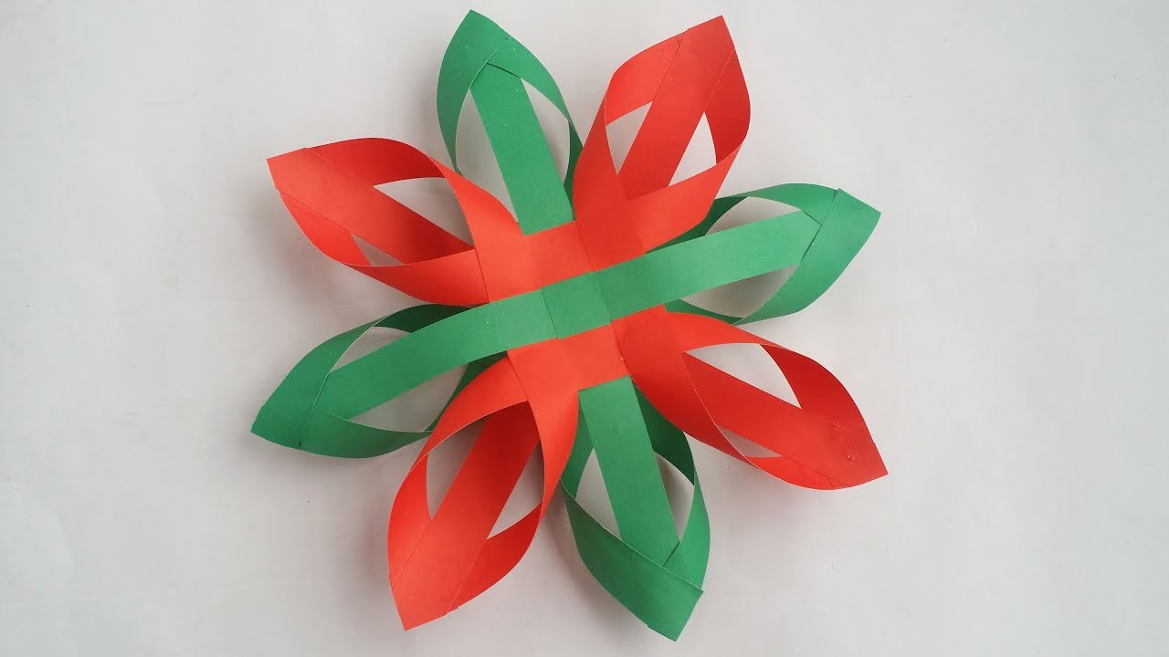 how to make beautiful 3d snowflake for christmas decorations easy tutorial
