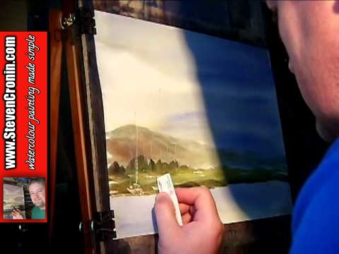 Uphill, Somerset Watercolour Landscape Painting Lesson Part 2 of 3