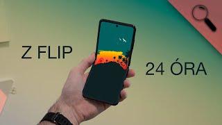 24 óra a Galaxy Z Flippel - mégis üveg?