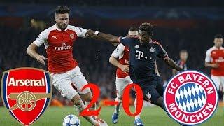 арсенал vs Бавария Мюнхен 2:0 Видео обзор голов матча 20/10/2015 Arsenal vs  Bayern Munchen