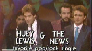 "Huey Lewis and the News Win Favorite Pop/Rock Single For ""Power of Love"" - 1986 AMA"