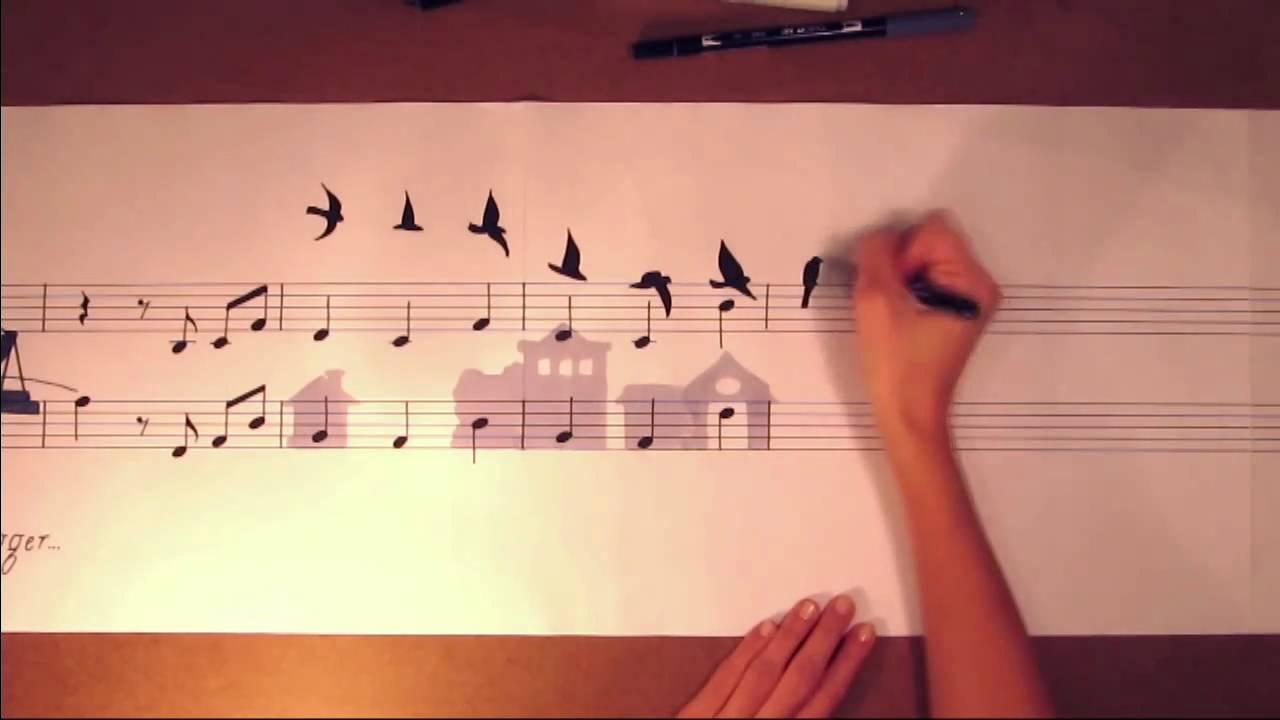 Music Sheet Drawing Art