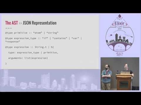 ElixirConf 2015 - Building a visual programming tool using Elixir by Josh Adams
