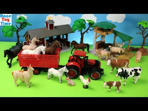 Farm Animals Toys Collection For Kids - Learn Animal Names Video