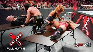 Its winner take all seth rollins and becky lynch look to defend both wwe universal championship raw womens champions in a mixed tag team match versus...