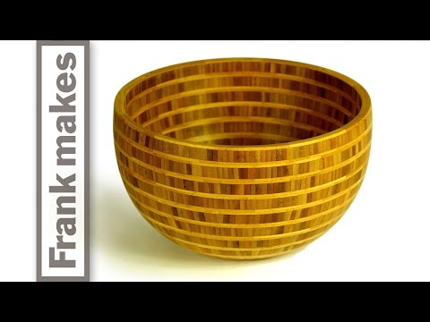 Segmented Wood Turned Bamboo Bowl
