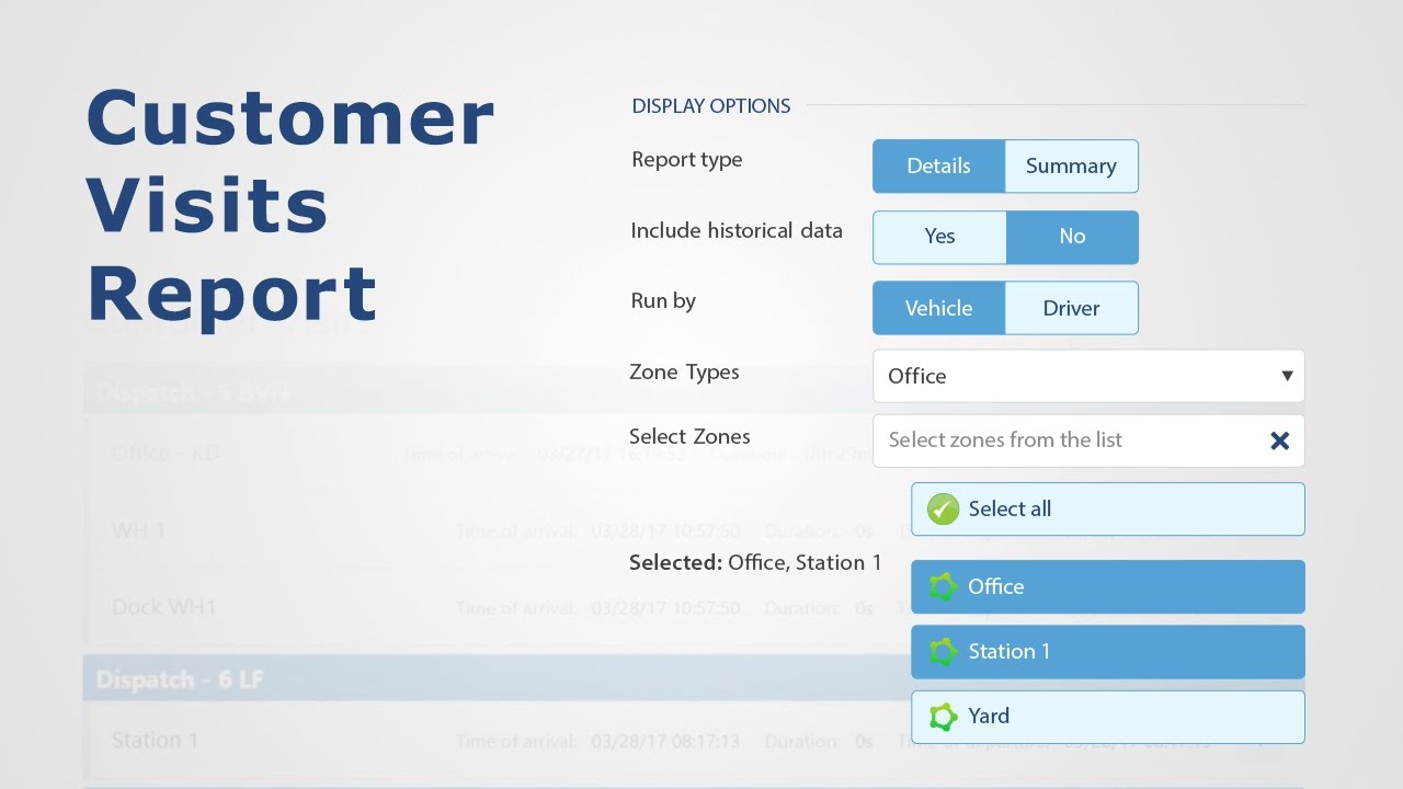 How to Use The Customer Visits Report | Fleet Productivity