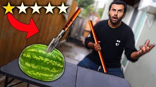I Bought The WORST Rated WEAPONS On Amazon!! (1 STAR) *YOU HAVE TO BE KIDDING ME!*