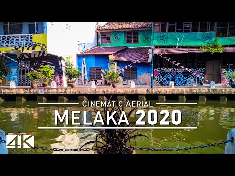 【4K】Drone Footage | Malacca City - Truly Asia | MALAYSIA 201