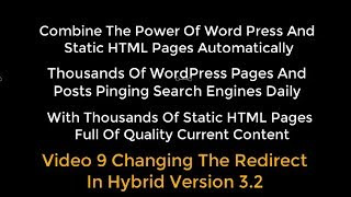 OTP Combining WP With HTML Pages Using Organic Traffic Platform Hybrid Video 9