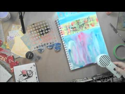 Art Journaling Fast Forward: Julie's Paint Splat #2 - YouTube