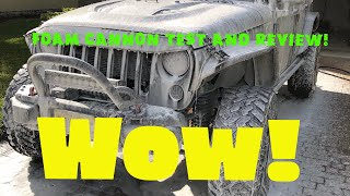 Testing my chemical guys foam cannon on Jeep Wrangler Rubicon