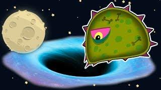 Суровый ЛИЗУН ГЛАЗАСТИК съедает все НА ЛУНЕ #1! Игра Tales from Space Mutant Blobs Attack