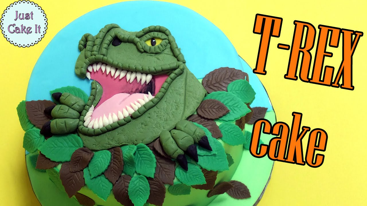 How to make dinosaur Trex cake YouTube