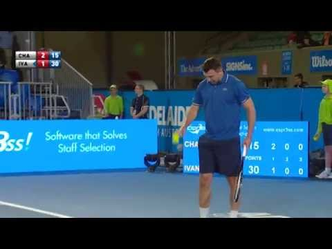 Goran Ivanisevic's big serve - World Tennis Challenge 2015