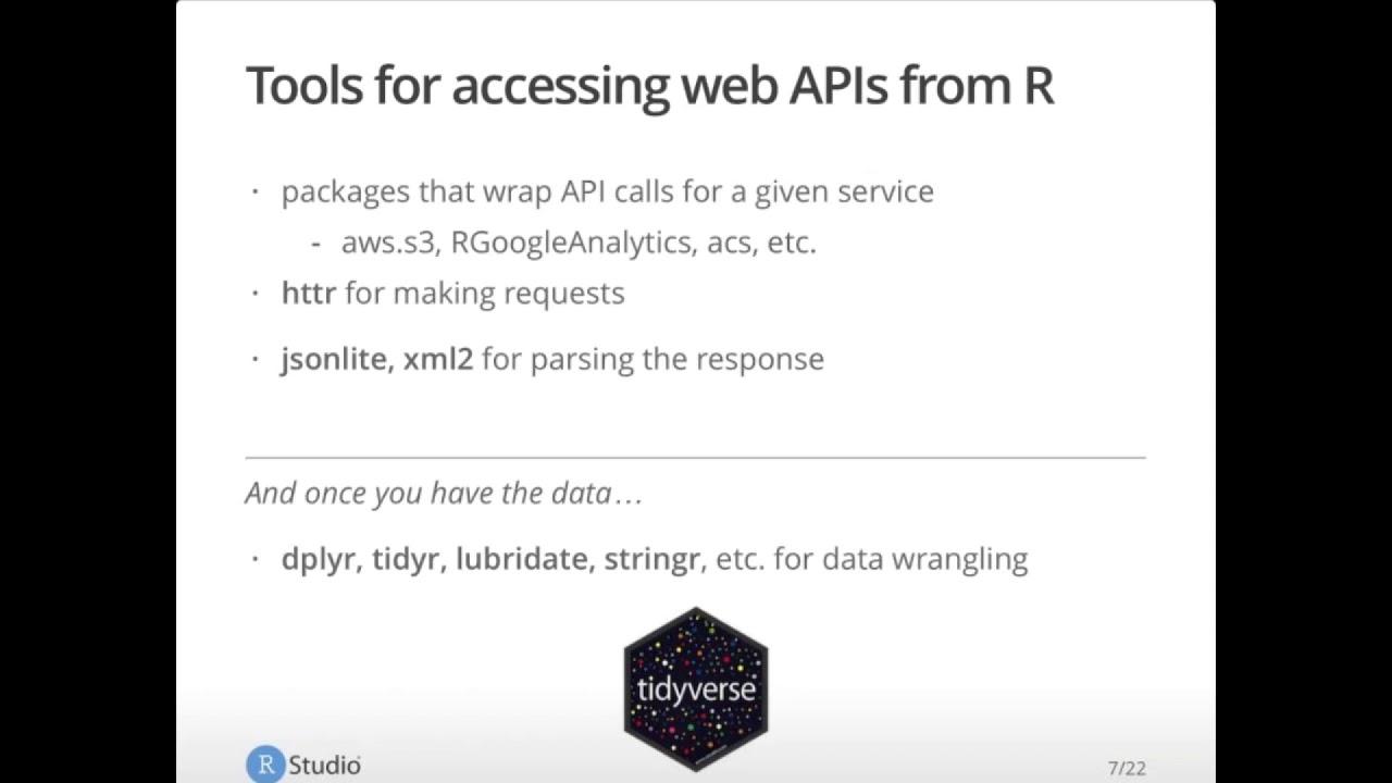 Web API Updates for R | RStudio Webinar - 2017