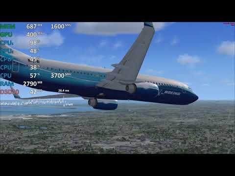 Ryzen 3 2200G Vega 8 Test Flight Simulator X Gameplay Benchmark. Vega 8 iGPU