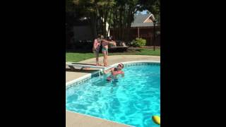 sunday funday pool fun june 26 2016 girls diving off the board with no floaties