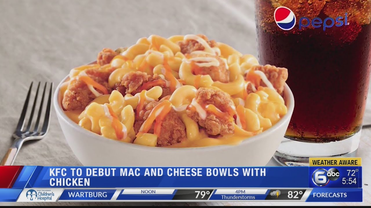 KFC to sell loaded mac & cheese bowls